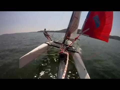 Hobie Cat FXOne Spi Run Solo at Saint-Chamas Etang de Berre