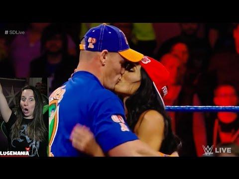 WWE Smackdown 2/28/17 Nikki Bella defends her man John Cenamp4