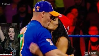 WWE Smackdown 2/28/17 Nikki Bella defends her man John Cenamp4