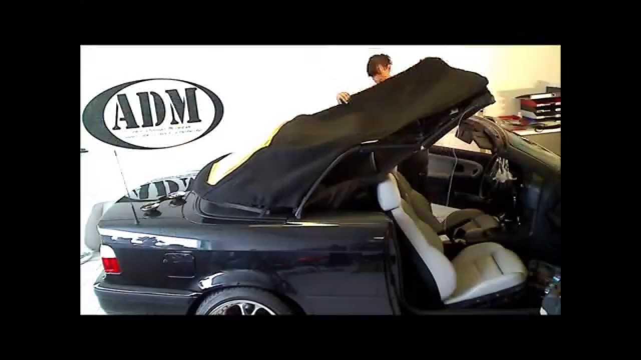 original bmw e36 cabrio verdeck montage youtube. Black Bedroom Furniture Sets. Home Design Ideas