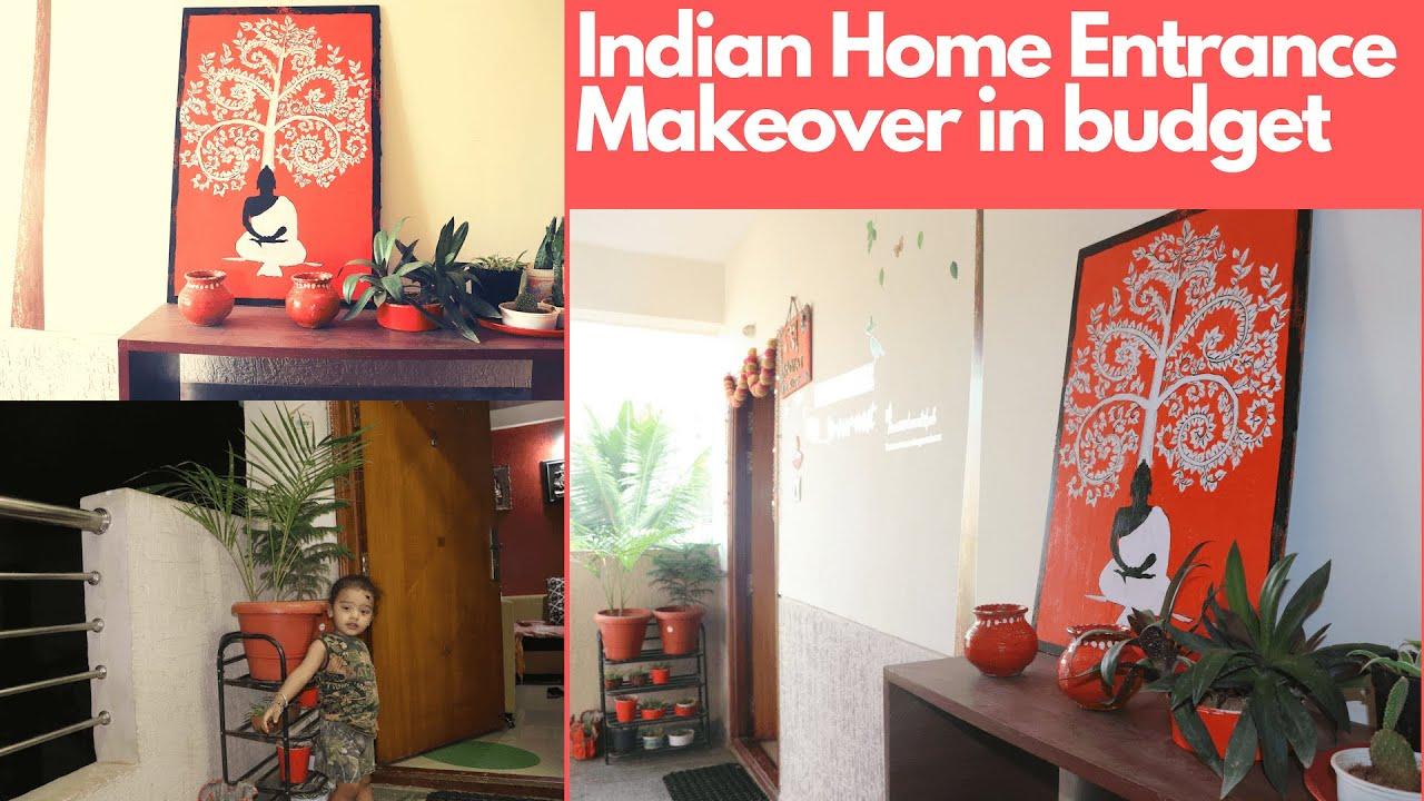 Indian Home Entrance decoration DIY on Budget(16). Apartment.Minimalist  Decor#creativityreinvented