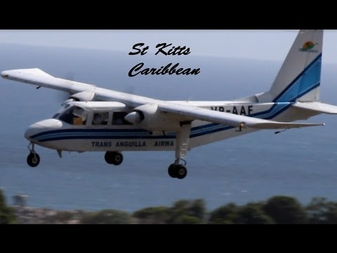 Trans Anguilla Air, BN-2 Islander @ St Kitts (HD 1080p)