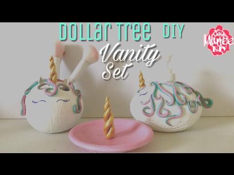 Dollar Tree DIY Unicorn Vanity Set
