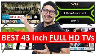 Best 43 inch Full HD TVs LG Samsung Onida VU