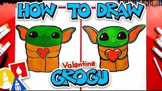 How To Draw Valentine's Bąby Yoda (Grogu)