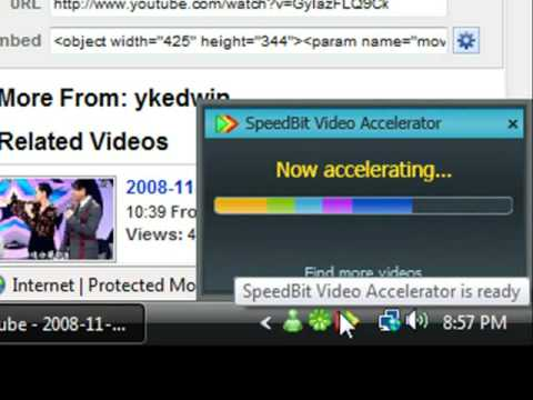 Speedbit video accelerator eliminate buffering of youtube videos.