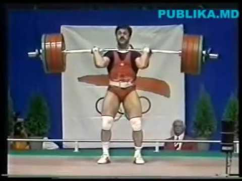 Olimpiada din Barcelona  1992 - Tudor Casapu (Aur - Haltere, cat. 75 kg)