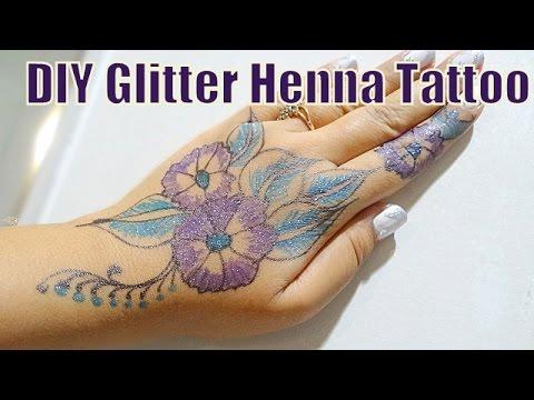 diy glitter colored henna inspired mehndi tattoo hennaandnailart - Henn Color
