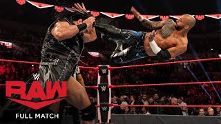 FULL MATCH - Ricochet vs. Drew McIntyre: Raw, Oct. 28, 2019