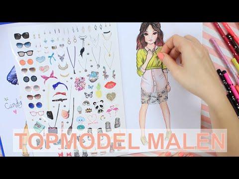 How to Draw Miju & Hayden | TOPModel Malbuch mit Stifte Set | Anfänger Tutorial || Foxy Draws