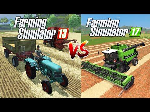Farming Simulator 13 VS Farming Simulator 17 : Deutz Fahr And Gameplay Comparison!