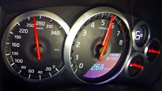 Nissan GTR Launch Control with awesome acceleration and exhaust sou...