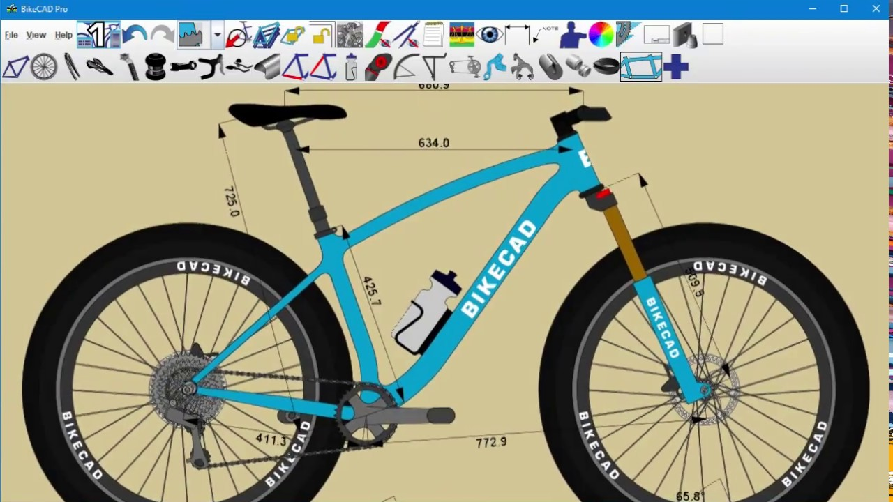 Www Bikecad Ca Bicycle Design Software