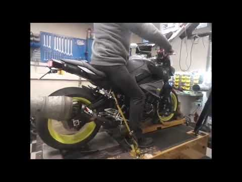 2017 Yamaha MT-10 dyno run with full Austin Racing exhaust
