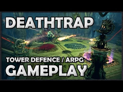 DEATHTRAP Gameplay - Campaign Mission - Tower Defence / Action RPG from Van Helsing Devs