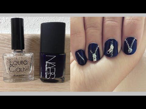Tuto nail art ongles fermeture eclair d butant facile c line youtube - Tuto nail art debutant ...