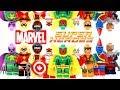 Marvel Superheroes Thunderbolts & Defenders Avengers & Alpha Flight Unofficial LEGO Minifigures