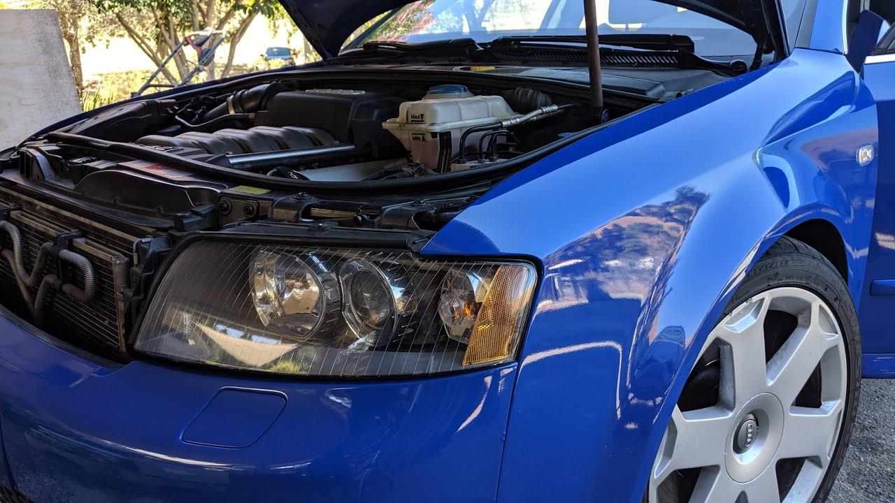 Audi 2005 B6 4 2l V8 cold start with strange rattling noise coming from  under engine