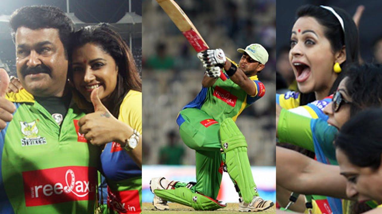 Mohan Lal, Mamtha Mohandas & Bhavana Celebrate Kerala Strikers Huge Victory against Karnataka