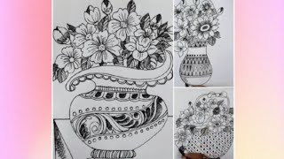 how to sketch of flower pot ,drawing 10