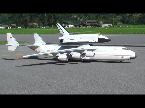 Antonov AN225 and Buran Spaceship RC Model self construction by Hans.B Switzerland