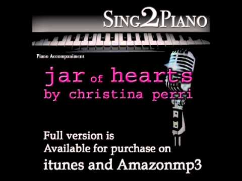 """CHRISTINA PERRI """"Jar of Hearts"""" (Piano backing for your cover/karaoke version)"""