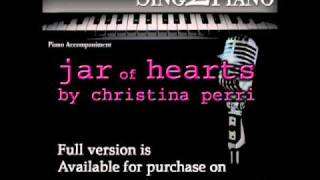 "CHRISTINA PERRI ""Jar of Hearts"" (Piano backing for your cover/karaoke version)"