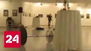Убийство в прямом эфире: кадры первых минут после гибели российского посла в Турции