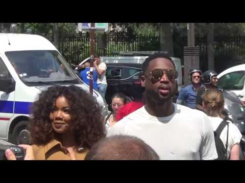 Dwyane Wade & Gabrielle Union @ Paris Fashion Week June 22, 2017 show Rick Owens / Juin #PFW