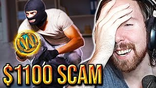 SCAMMED! Asmongold Reacts To $1100 Mythic Boost Scam