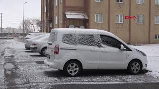 Bitlis'te kar yağışı yerini soğuk havaya bıraktı