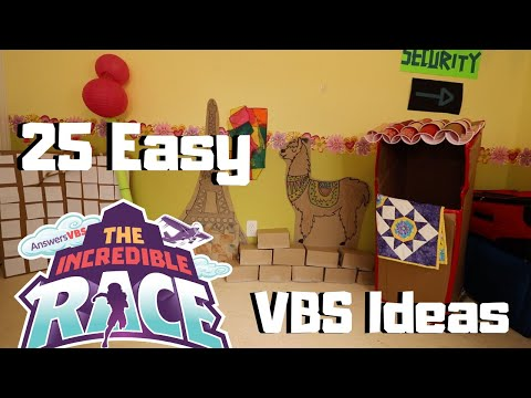 25 Easy VBS Decorations for The Incredible Race VBS 2019 | FAST, EASY, AND AFFORDABLE DIYS