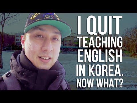 I Quit Teaching English In Korea. Now What? 🇰🇷