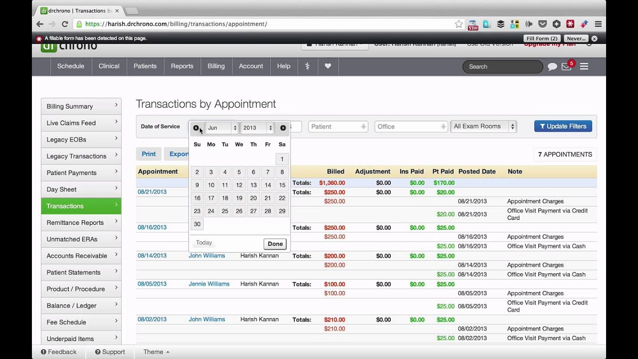 Demo Learn Medical Billing In One Hour Drchrono Ehr Youtube