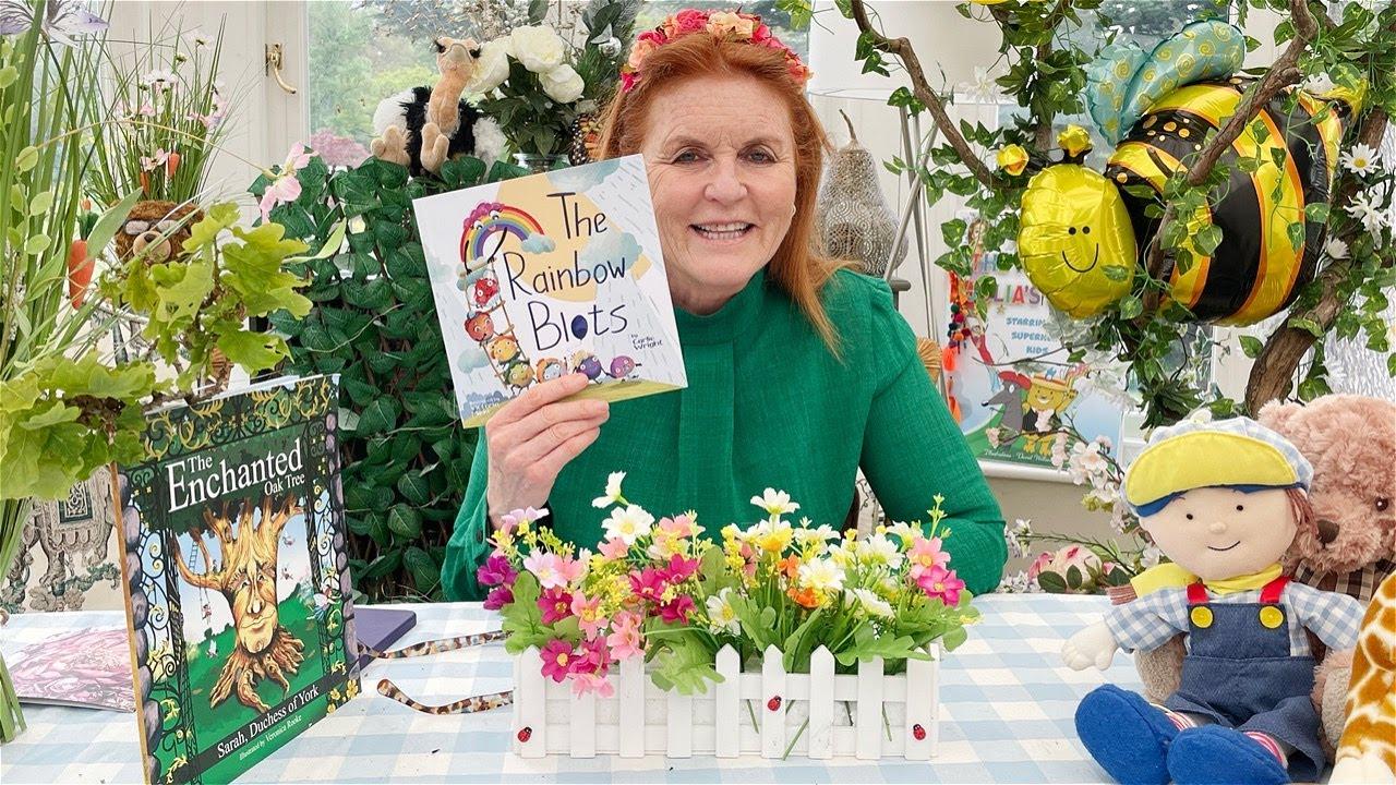 Sarah Ferguson reading The Rainbow Blots by Carlie Wright