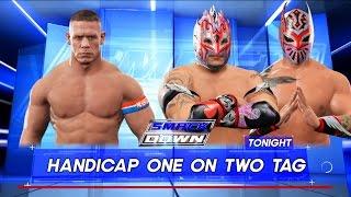 WWE 2K17 -John Cena vs.Sin Cara & Kalisto-Handicap Match- SmackDown Live 2017 (PS4)