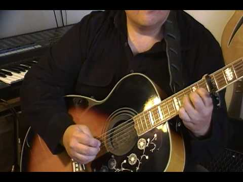 how to play here comes the sun on acoustic guitar