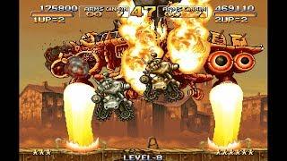 [HD] 메탈슬러그X 1인 2역 레벨8 게임플레이 (다른 버전)