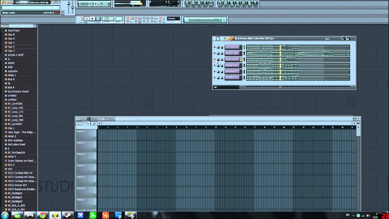 House songs midi collection 2012 with flp midi download for House music midi
