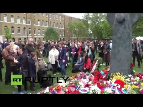 LIVE: Victory Day celebrations at the Soviet War Memorial in London