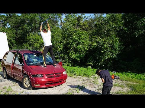 Destroying My Friend's Car And Surprising Him With A New One!! (EMOTIONAL)
