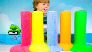 цветная пена Как сделать много цветной пены своими руками Радужная цветная пена Color foam How to ma