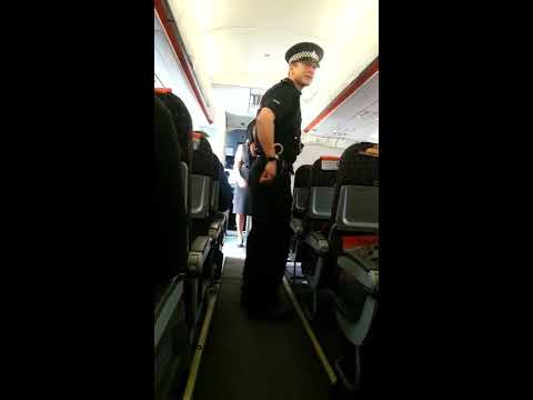 Crazy Icelandic woman on easyJet plane