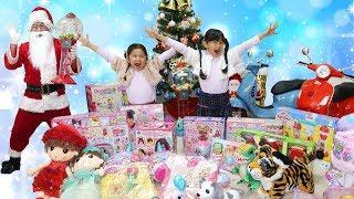 サンタさんのプレゼントは不思議なガムボール☆ガム風船からプレゼント!!himawari-CH thumbnail