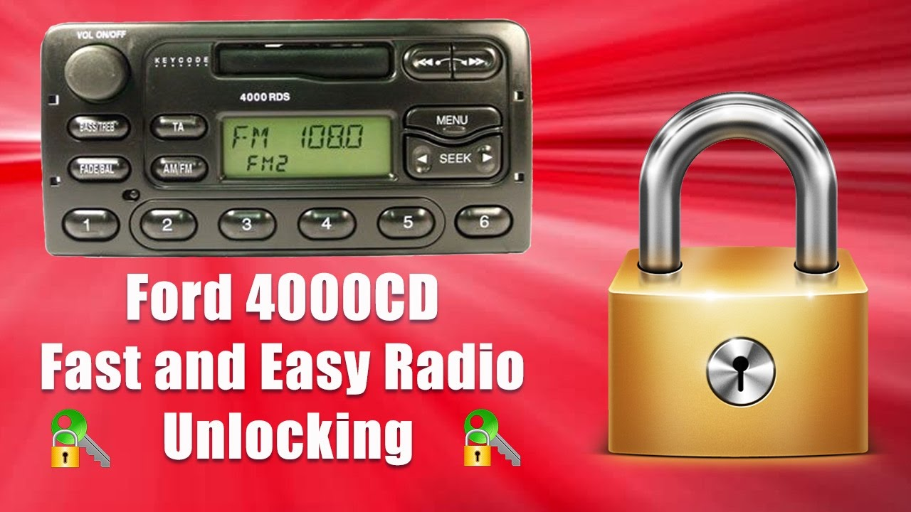 how to unlock 4000 cd radio code/serial ford transit m code
