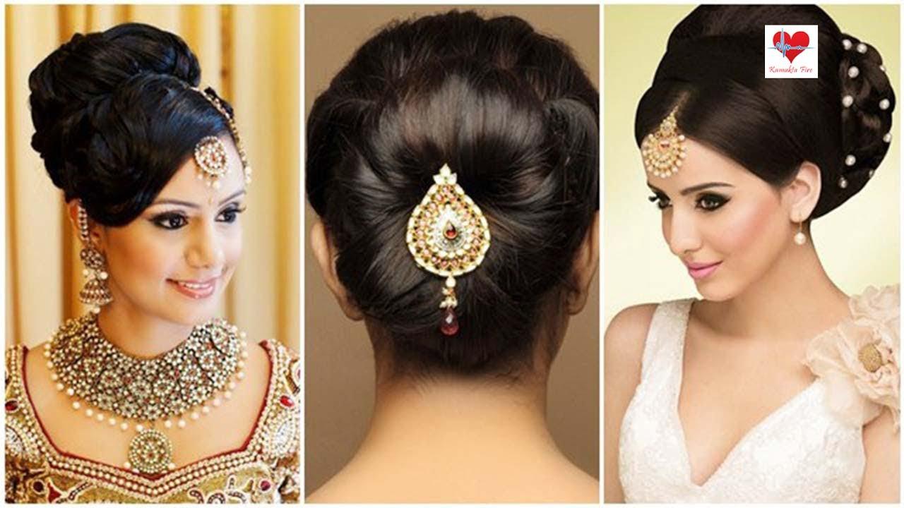 indian bridal hairstyles low bun image for fashion | kamukta fire