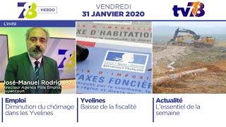 7/8 L'Hebdo. Edition du vendredi 31 janvier 2020