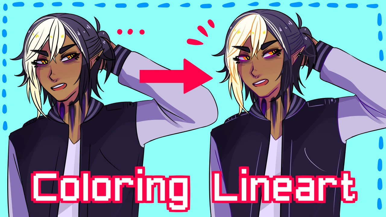 How to Color Lineart