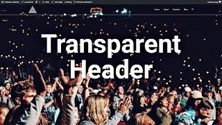 Transparent Header using Elementor & OceanWP in WordPress