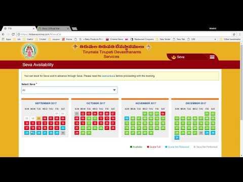 Tirupati Simple Room ,dharsan Online Booking